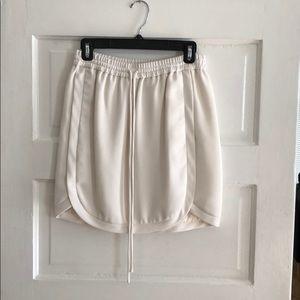 White J Crew skirt